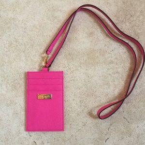 Pink Kate Spade Lanyard